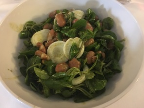 Salad with egg and beans ... really good!